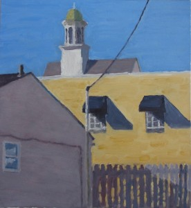 """Cupola behind Palmano's,"" by Robert Ross, is one of the works in the Curator's Choice exhibit."