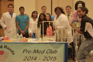 "The Pre-Med Club demonstrated the importance of healthy lungs at Valencia's ""Share the Air"" non-smoking kickoff."