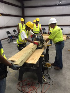 Students in Valencia's basic construction course learn how to use tools and practice what they learn through building projects.