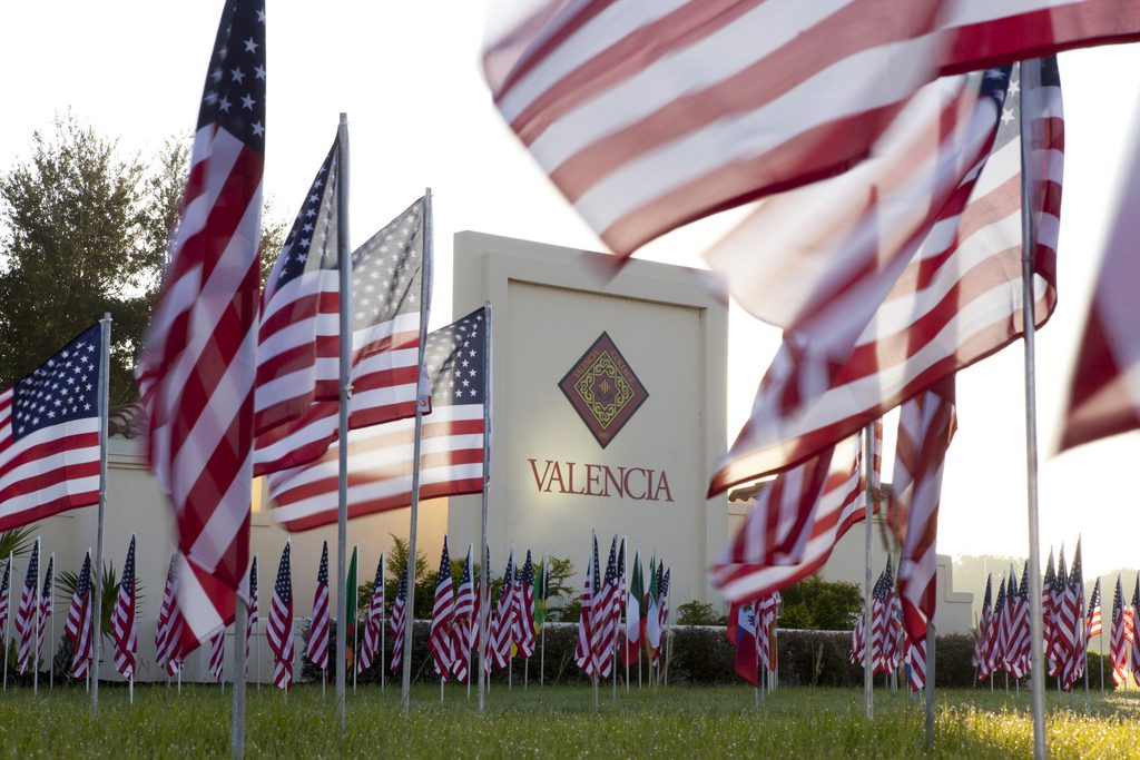 9-11 Osceola flags