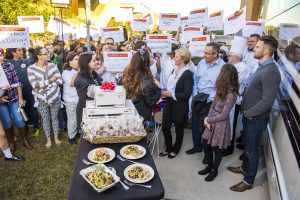 Valencia students watched and cheered as the Today show crew did the live broadcast from West Campus.