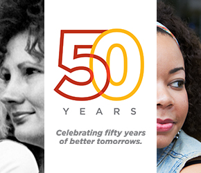 Celebrating fifty years of better tomorrows.
