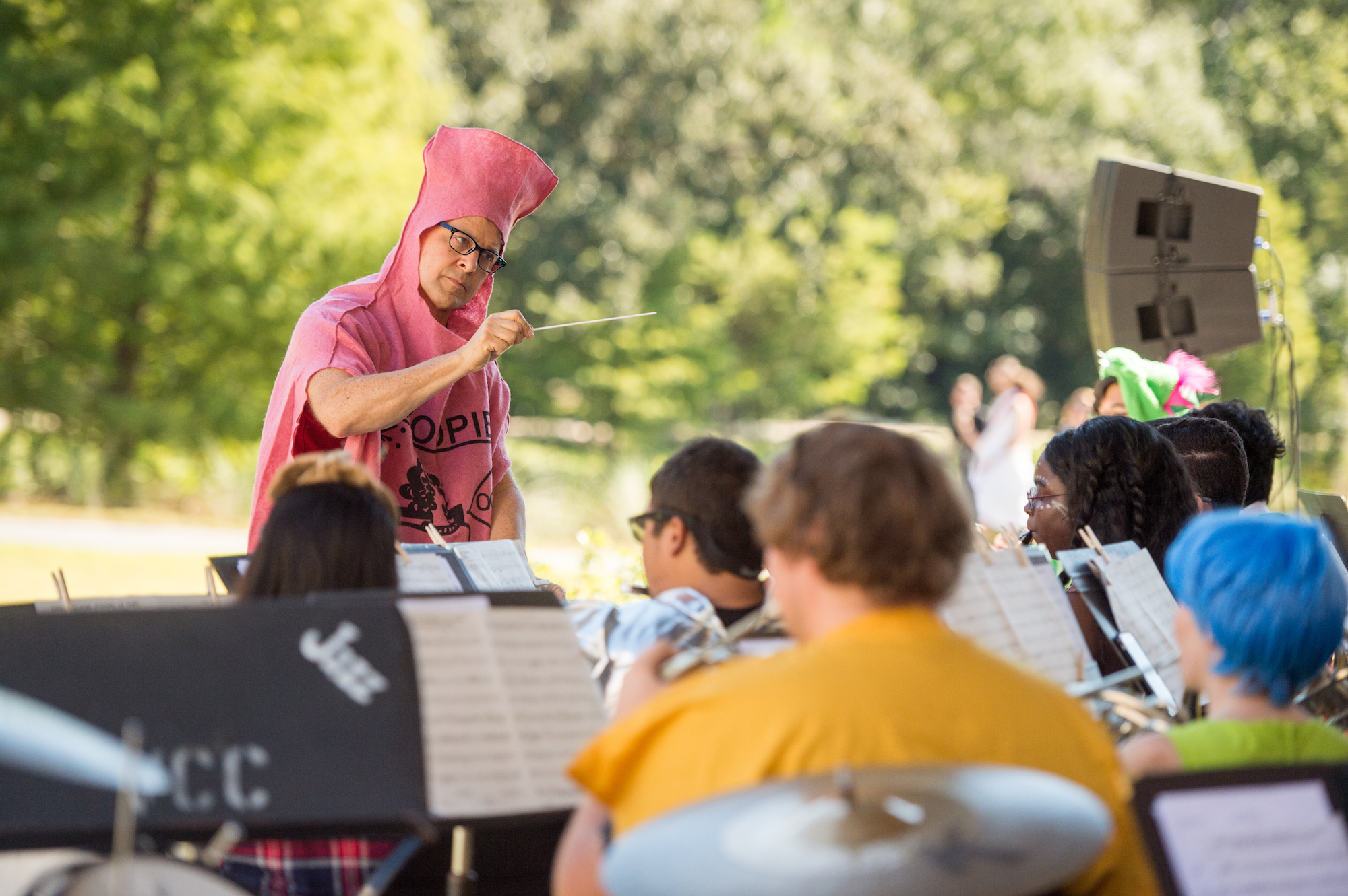 Valencia's Jazz and Symphonic Bands Highlight Halloween Spirit with Outdoor Concert